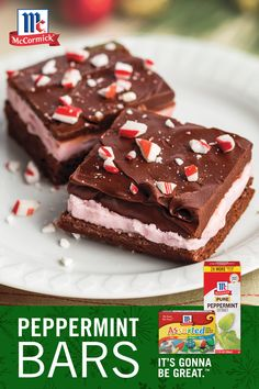 Upgrade your Christmas brownies by adding a layer of peppermint filling and finishing with a decadent chocolate glaze! This dessert recipe is perfect for a cookie swap, gift basket, or as a holiday treat to have at home. It's Gonna Be Great. Xmas Recipes, Best Soup Recipes, Brownie Recipes, Cookie Recipes, Dessert Recipes, Chocolate Glaze, Decadent Chocolate, Christmas Brownies, Christmas Cookies