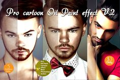 Pro cartoon Oil Paint effect v.2 ~ Actions on Creative Market