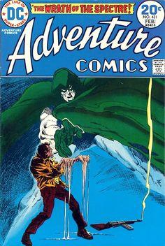 Adventure Comics The Spectre. Art by Jim Aparo. One of my comic art heroes Jimmy Aparo - RIP - Visit to grab an amazing super hero shirt now on sale! Dc Comic Books, Comic Book Artists, Comic Book Covers, Comic Book Heroes, Comic Art, Old Comics, Vintage Comics, The Spectre, Nostalgia