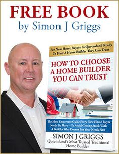 In this game-changing book, you'll learn:  - Why all builders are not created equal and how to find the right one for you  - The best ways to find the house style that suits you perfectly - Tips for building a carbon-neutral home  - Why low pricing is a warning flag, and how to avoid budget blowouts  - The secret of proper planning that 90% of builders ignore.  Limited Time Only, Order your FREE Book Today & Receive a COMPLIMENTARY New Home Design Consultation with Simon Griggs