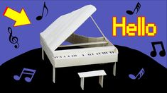 How to Make a PIANO with Popsicle Sticks 2 - Hello - OMFG