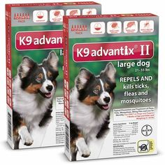 12 MONTH K9 ADVANTIX II RED Large Dog (for dogs 21-55 lbs)