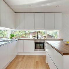 Kitchen Room Design, Best Kitchen Designs, Kitchen Cabinet Design, Modern Kitchen Design, Kitchen Layout, Home Decor Kitchen, Interior Design Kitchen, Kitchen Living, New Kitchen
