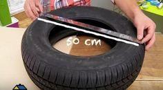 Cómo reutilizar un neumático... ¡para convertirlo en un asiento!