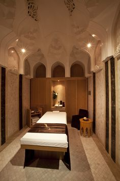 The massage room at Es Saadi Palace Spa, the first Dior Institut.
