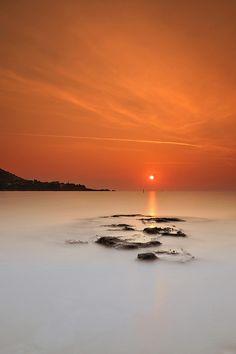 Orange sunrise ~ Cap Esterel ~ Côte d'Azur, France