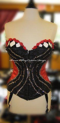 Queen of Hearts Costume Red Steel Boned by BremaEbbingCostume, $175.00