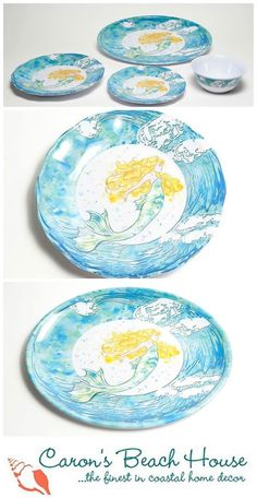 222 Fifth Set Of 4 Coastal Life Orted Dessert Plates Serveware Home Decor Pinterest And Dinnerware