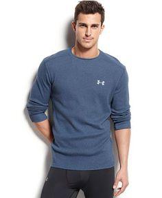 Under Armour Men's Amplify Long-Sleeve Thermal T-Shirt - T-Shirts - Men - Macy's