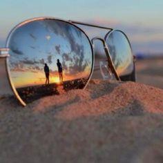 beach + sunglasses + long walks on the beach in sunglasses :)