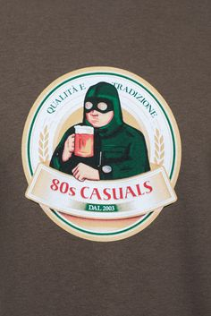 80s Casuals Tradizione Olive T-Shirt | Distant Echo
