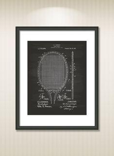 Tennis racket 1916 Patent Art Illustration  Drawing  by TawerArt