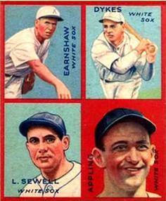 1935 Goudey 4-in-1 (R321) #4 Luke Appling / Jimmie Dykes / George Earnshaw / Luke Sewell Front