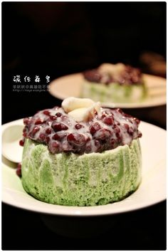 Matcha Shaved Ice with Red Beans