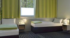 Barrierefreies Zimmer im B&B Hotel Karlsruhe