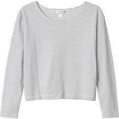 Monki Nese top ($17) ❤ liked on Polyvore featuring tops, sweaters, shirts, monki, sleek stripes, white striped shirt, white shirt, white stripes shirt and stripe shirt