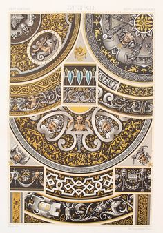 Renaissance Decorative Ornament Limoges Enamels by PaperPopinjay