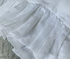 Sheer linen pillow shams Ruffle Pillow, Pillow Shams, White Pillow Cases, Romantic Room, King Pillows, Traditional Decor, Bed Styling, Sheer Fabrics, Bed Sizes