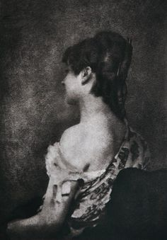Untitled Bare-Shouldered Portrait of Young Woman PhotographerRobert Demachy CountryFrance MediumPhotogravure JournalPhotographisches Centralblatt 1898 AtelierNone Listed Year1898