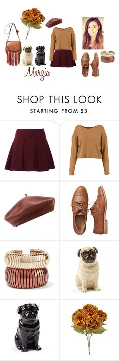"""Cutiepiemarzia"" by floralfunk ❤ liked on Polyvore featuring Accessorize, Gap, Rosantica, Quail, brown, autumn, beret, Marzia and pugs"