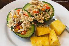 Mexican Chicken Salad stuffed avocado.