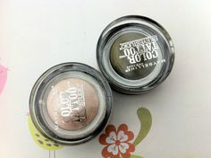 Maybelline Colour Tattoo's, I love these two colours (barely beige and mossy green)