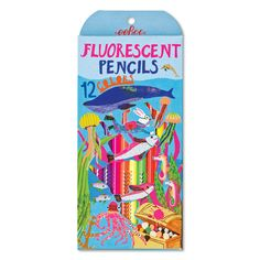 In the Sea 12 Fluorescent Pencils | eeBoo