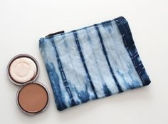 Bohemian accessories hand dyed indigo zipper pouch, Blue clutch bag, tie dye bag, Gifts for her blue clutch bag, zipper pouch, shibori bag by bySanz on Etsy