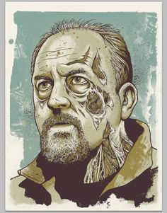 zombie louis ck YES Omg Posters, Zombie Face, Louis Ck, Fan Poster, Famous Monsters, Best Portraits, Interesting Faces, Comedians, Screen Printing
