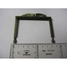 Fecho Metal Cartonagem Recto Ouro Velho Liso 8.5 cm