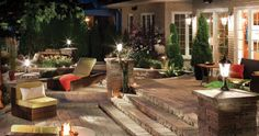 Outdoor Lighting and Firepit for Outside Cozyness