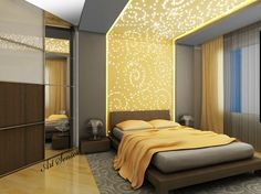 Suspended ceilings in the bedroom | Art senses - artistic ideas for interior and garden.