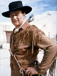THE ALAMO (1960) - John Wayne (pictured) - Richard Widmark - Laurence Harvey - Chill Wills - Frankie Avalon - Joan O'Brien - Patrick Wayne - Ken Curtis - Linda Cristal - Produced & Directed by John Wayne - United Artists - Publicity Still.