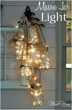 I ♡ this Mason Jar light!!