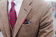 Nice contrast - tweed vs bright colors