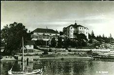 Østfold fylke Hvaler kommune  Skjærgårdsbadet fra sjøsiden Utg J.A.Jensen. Brukt 1939