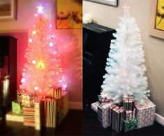 6 FT PRELIT MULTI COLOR LED FIBER OPTIC ARTIFICIAL WHITE CHRISTMAS TREE *** You can find more details by visiting the image link.