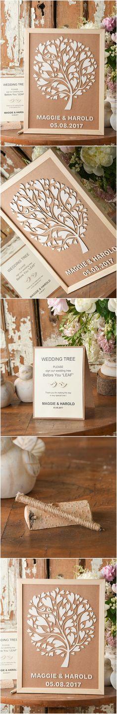 Wedding Wooden Alternative Guest Book Frame - Tree #wood #rustic #country  #weddinggift #weddingideas #guestbook #alternative