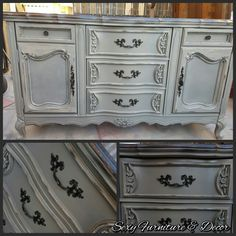 French provencial buffet grey