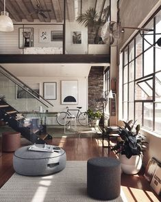 #Home Design Interior Furniture #Inspiration. Wonderful Living Room. Great Open Spaces.