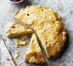 This hearty potato pie hails from Lancashire and is a little like a giant cheese pasty. Our version contains apples and thyme