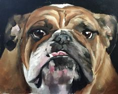 Bull Dog Painting Bull Dog Art Bull Dog PRINT Bull Dog - Art Print  - from original painting by J Coates by JamesCoatesFineArt on Etsy