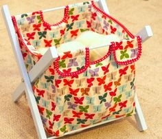 Hamper Tutorial - Yes! Laundry baskets take up way too much space in my little house, this foldable one is perfect and so cute!