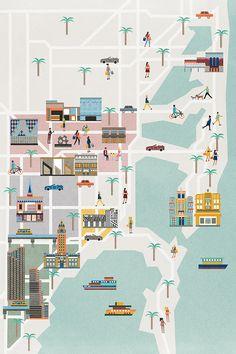 Fair France Miami Map by Vanity Fair.