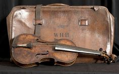 The violin used by Wallace Hartley as the band famously played 'Nearer my god to thee' as the Titanic sank was thought to have been lost in 1912 disaster
