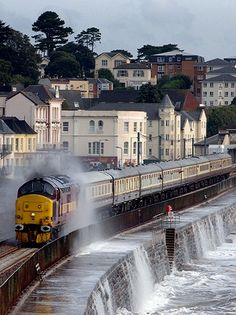 We've been on this train route several times - it's stunning! (When it's not being battered by the sea…).