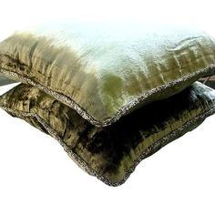 16x16 Decorative Olive Green Sofa Cushion Cover | Etsy Green Pillow Cases, Green Pillows, Velvet Pillows, Throw Pillow Cases, Cushions On Sofa, Sofa Bed, Velvet Couch, Euro Pillow Shams, Sofa Throw