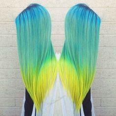 Degrade Azul, Verde e amarelo