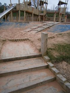 A section of path surfaces, to create a more interesting play space at Gateshead Adventure Playground.