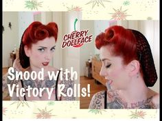 ▶ How to style a SNOOD! Victory Roll Vintage Hair by CHERRY DOLLFACE - YouTube http://thepinuppodcast.com  re-pinned this because we are trying to make the pinup community a little bit better.